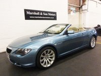 2007 BMW 6 SERIES 630I SPORT 2d AUTO 255 BHP CONVERTIBLE £10500.00