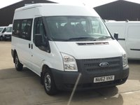 2013 FORD TRANSIT 2.2 300 SHR 9 Seater Shuttle Mini Bus - Full Luggage Cage 124 BHP £11995.00