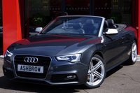 2013 AUDI A5 CABRIOLET 2.0 TDI S LINE SPECIAL EDITION 2d 177 S/S £17943.00