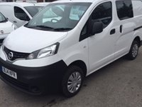 USED 2014 14 NISSAN NV200 1.5 DCI ACENTA 1d 90 BHP EXCELLENT CONDITION