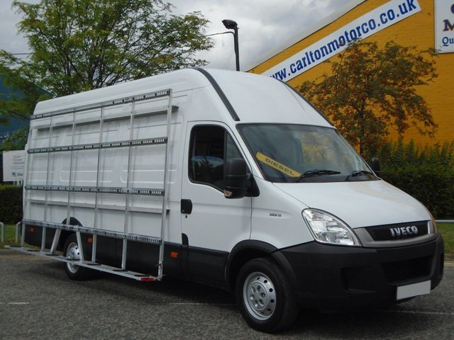 2011 11 IVECO-FORD DAILY 35S13 L3 H3 [ Glass Racks Glaziers ] Van 3950wb Ex lease Service printout