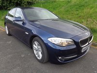 2012 BMW 5 SERIES 2.0 520D SE 4d 181 BHP DEEP SEA BLUE, FULL LEATHER. £14990.00