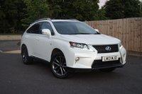 2013 LEXUS RX 3.5 450H F SPORT 5d AUTO 295 BHP £26500.00