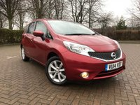 USED 2014 14 NISSAN NOTE 1.2 TEKNA DIG-S 5d 98 BHP FREE TAX, SAT NAV, BLUETOOTH
