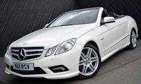 2011 MERCEDES-BENZ E CLASS E350CDi BlueEFFICIENCY SPORT CONVERTIBLE AUTO 231 BHP £18890.00