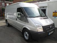 2012 FORD TRANSIT 2.2 350 LONG WHEEL BASE SEMI HI ROOF  125 psi SIX SPEED ELECTRIC PACK    METALLIC MOON DUST SILVER FULL MAIN DEALER SERVICE HISTORY    £SOLD