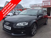 2009 AUDI A3 2.0 SPORTBACK TDI S LINE SPECIAL EDITION 5d AUTO 138 BHP £8995.00