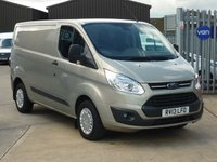 2013 FORD TRANSIT CUSTOM 2.2 270 TREND Low Roof 124 BHP SENSORS FRONT AND REAR £11495.00