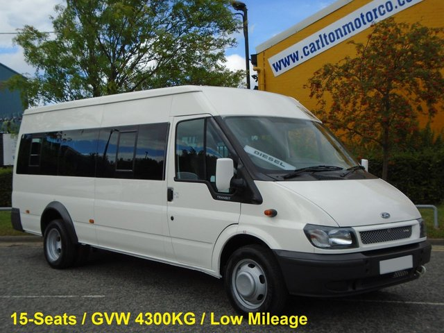 2006 06 FORD TRANSIT 430e Minibus 15 Seat Low Mileage Ex Council C.O.I.F Certificated