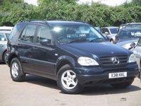 2001 MERCEDES-BENZ M CLASS 2.7 ML270 CDI 5d AUTO 170 BHP £2995.00