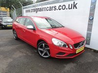 USED 2011 11 VOLVO V60 2.0 D3 R-DESIGN 5d 161 BHP Navigation+Bluetooth+Cruise