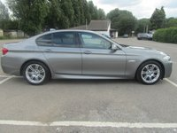 USED 2012 62 BMW 5 SERIES 2.0 520D M SPORT 4d AUTO 181 BHP £4k Extras+SAT NAV+LEATHER