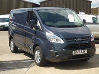 2013 FORD TRANSIT CUSTOM 2.2 270 LIMITED Low Roof 124 BHP AIR CON - ALLOYS - SENSORS - CRUISE - £11995.00
