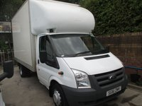 2011 FORD TRANSIT 2.4 350  MODEL  115 BHP  LUTON WITH ALLOY SLIM JIM  TAIL LIFT   ONE OWNER FULL SERVICE HISTORY   £SOLD