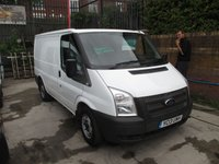 2013 FORD TRANSIT 2.2 280 DIESEL SIX SPEED LOW ROOF SWB  71,000 MILES  ONE OWNER   £7500.00
