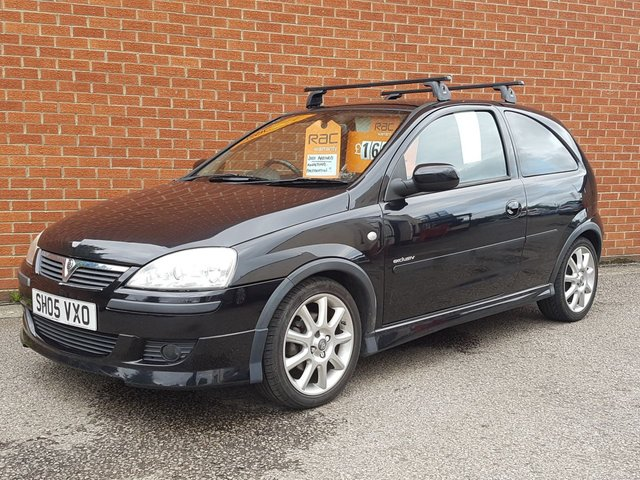 2005 05 VAUXHALL CORSA 1.4 EXCLUSIV WITH FULL BLACK LEATHER INTERIOR
