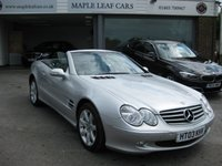 USED 2003 03 MERCEDES-BENZ SL 3.7 SL350 2dr Truly Beautiful Example Navigation Full Leather