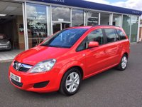 2012 VAUXHALL ZAFIRA 1.6 EXCLUSIV 5DR 7 SEATER £6699.00