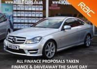 USED 2011 61 MERCEDES-BENZ C CLASS 2.1 C220 CDI BLUEEFFICIENCY AMG SPORT 2d AUTO 170 BHP FSH, SAT NAV, BLUETOOTH