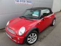 2007 MINI CONVERTIBLE 1.6 COOPER 2d 114 BHP ONLY 48000 MILES, LOVELY CONDITION  £5495.00
