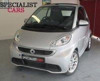 2013 SMART FORTWO CABRIO 1.0 PASSION MHD 2d AUTO 71 BHP £5495.00