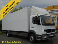 USED 2007 07 MERCEDES-BENZ ATEGO 1218 25ft Box van T/LIFT Side Door Low Mileage Delivery T,B,A