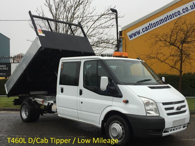 2009 59 FORD TRANSIT 115 T460L D/Cab Tipper Ex Council Massive 2120kgs Payload,Low mileage,Free UK Delivery,