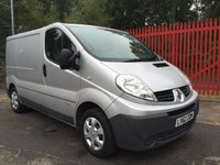 2012 RENAULT TRAFIC 2.0 SL27 DCI S/R 115 BHP SAT NAV AIR CON FSH SILVER ONE OWNER £6495.00