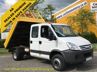 USED 2007 57 IVECO-FORD DAILY 65c18 Crew Cab Tipper 7s Low Mileage 6.5Ton Delivery T,B,A