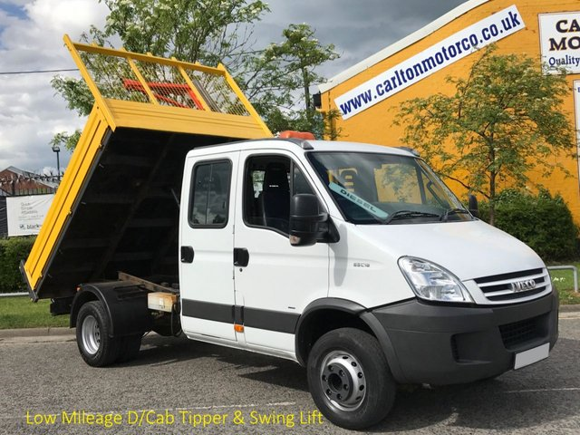 2007 57 IVECO-FORD DAILY 65c18 Crew Cab Tipper 7s Low Mileage 6.5Ton Delivery T,B,A