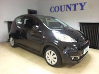 USED 2012 12 PEUGEOT 107 1.0 ACTIVE 3d 68 BHP * BLACK 107 ACTIVE  * 60 MPG *