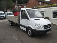 2013 MERCEDES-BENZ SPRINTER 313 CDI LWB ALLOY DROPSIDE PICKUP  TURBO DIESEL SIX SPEED 130psi  ONE OWNER FULL SERVICE HISTORY  £10500.00