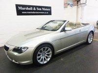 2006 BMW 6 SERIES 3.0 630I SPORT 2d AUTO 255 BHP CONVERTIBLE £10000.00