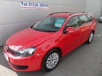 2012 VOLKSWAGEN GOLF 1.6 S TDI BLUEMOTION 5d 103 BHP CLEAN ESTATE CAR £6995.00