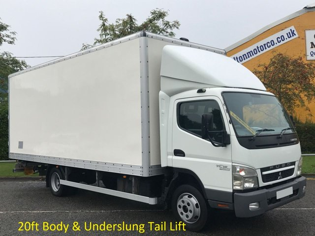 2011 11 MITSUBISHI FUSO CANTER 7C15 Box Van Lwb 20ft Grp Body+T/L [ Low Mileage ] Free UK Delivery