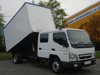 2008 MITSUBISHI CANTER 75 7C15D Crew Cab Tipper High sides Low Mileage Ex council Free UK Delivery £12950.00