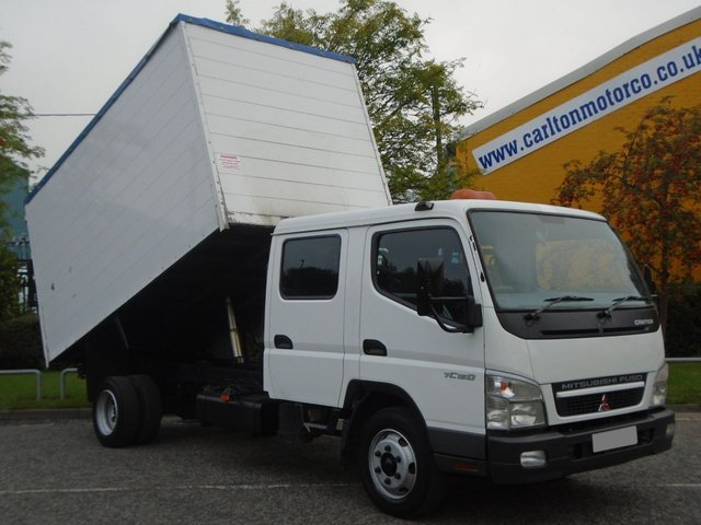 2008 08 MITSUBISHI CANTER 75 7C15D C/Cab Tipper High sided Low Mileage 62K Ex council Free UK Delivery