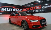 2013 AUDI A4 2.0 AVANT TDI S LINE 5DOOR 141 BHP BRILLIANT RED £14450.00