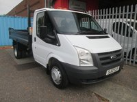 2012 FORD TRANSIT 350 Single Cab Steel Bodied Tipper 100PS *TWIN REAR WHEELS* £11495.00