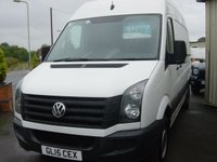 2015 VOLKSWAGEN CRAFTER 2.0 CR35 TDI H/R P/V 1d 107 BHP MWB HIGH ROOF £SOLD