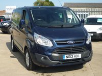 2013 FORD TRANSIT CUSTOM 2.2TDCi T290 LIMITED Low Roof CREW CAB 5 SEATS 125 BHP - BLUE - £13495.00
