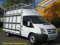 2011 FORD TRANSIT 115 T350L High Roof [ Glaziers / Frail Glass Rack ] van Ex lease Service printout Free UK Delivery £8950.00