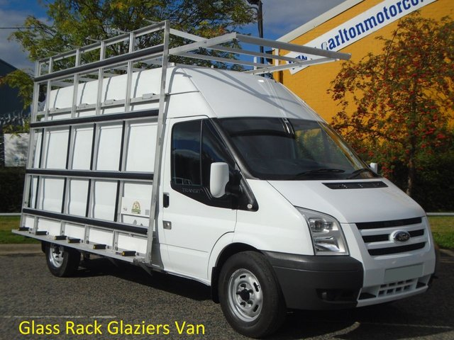 2011 61 FORD TRANSIT 115 T350L High Roof [ Glaziers / Frail Glass Rack ] van Ex lease Service printout Free UK Delivery