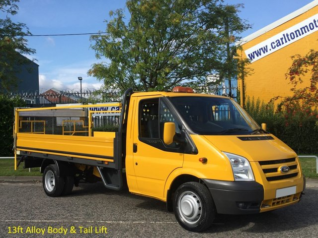 2011 11 FORD TRANSIT 115 T350EF Dropside / Pickup T/Lift Ex lease Free UK Delivery DRW