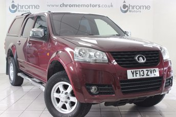 2013 GREAT WALL STEED 2.0 TD S 4X4 DCB 4d 141 BHP £7999.00
