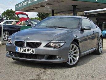 2008 BMW 6 SERIES 3.0 635D SPORT 2d 282 BHP £17000.00