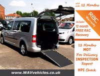 2011 VOLKSWAGEN CADDY MAXI 1.6 C20 LIFE TDI 5d 5 SEATS + WHEELCHAIR ACCESSIBLE £9495.00