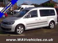 USED 2011 11 VOLKSWAGEN CADDY MAXI 1.6 C20 LIFE TDI 5d AUTO 101 BHP 7 SEATS + WHEELCHAIR ACCESSIBLE 7 SEAT + WHEELCHAIR ACCESSIBLE