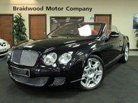 2011 BENTLEY CONTINENTAL 6.0 GTC 2d AUTO 552 BHP £72950.00
