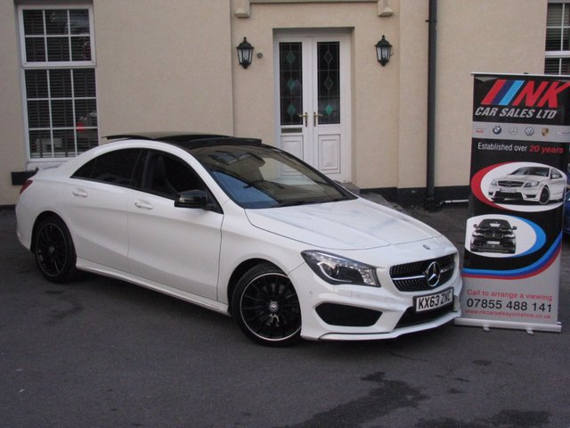 2013 63 MERCEDES-BENZ CLA 2.1 CLA220 CDI AMG SPORT 4d AUTO 170 BHP NOW IN STOCK AMG SPEC  IT IS A  AMG NIGHT EDITION WITH ALL LED LIGHT PACK AS WELL AND BLACK SPEC